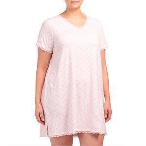 Kathy Ireland Sleepwear pink floral nightgown